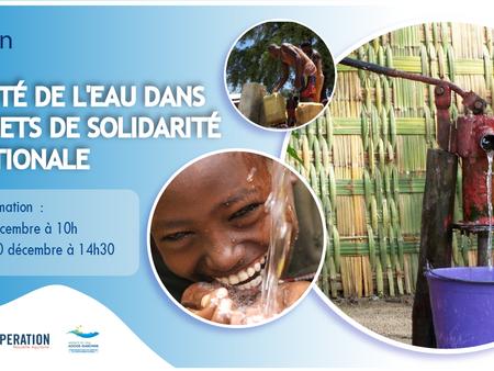 La qualité de l'eau dansles projets de solidarité internationale - Formation en visio