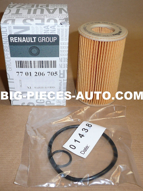 Filtre à huile Renault d'ORIGINE 1.0i / 1.2i Clio I Kangoo I Twingo I