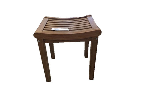 Curved Teak Shower Stool. adrteakwarehouse   Curved Teak Shower Stool