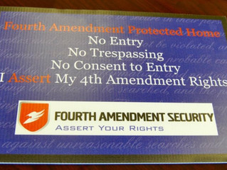 The 4th Amendment Security Sign