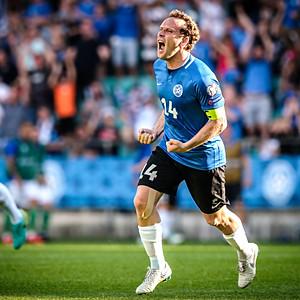 EURO 2020 Qualifications. Estonia vs Northern Ireland, Tallinn, Estonia