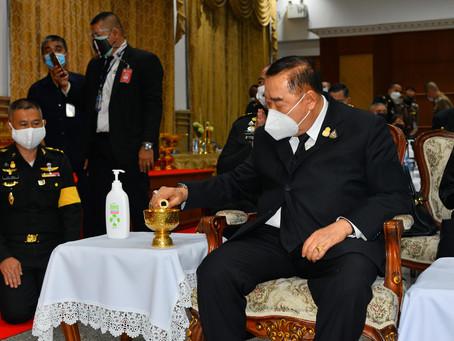 วันที่ 3 พ.ค.64 เวลา 1800 พล.อ.ประวิตร วงษ์สุวรรณ รองนายกรัฐมนตรี เป็นประธานพิธีสวดพระอภิธรรมศพ นายก