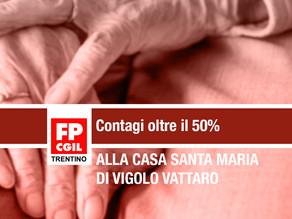 Contagi oltre il 50% alla Casa Santa Maria di Vigolo Vattaro