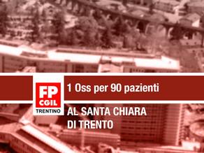 Santa Chiara: 1 Oss per 90 pazienti