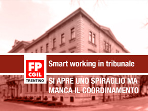 Spiraglio per lo smart working in tribunale
