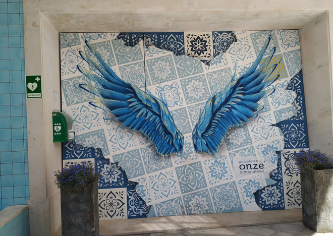 Arte de rua para o Designer Outlet Algarve