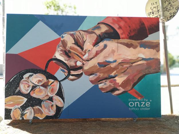 Arte urbana para o Açoteia - Rooftop Festival