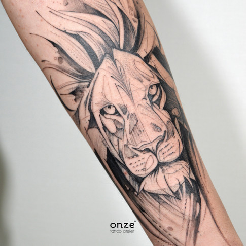 Sketch lion by Edgar