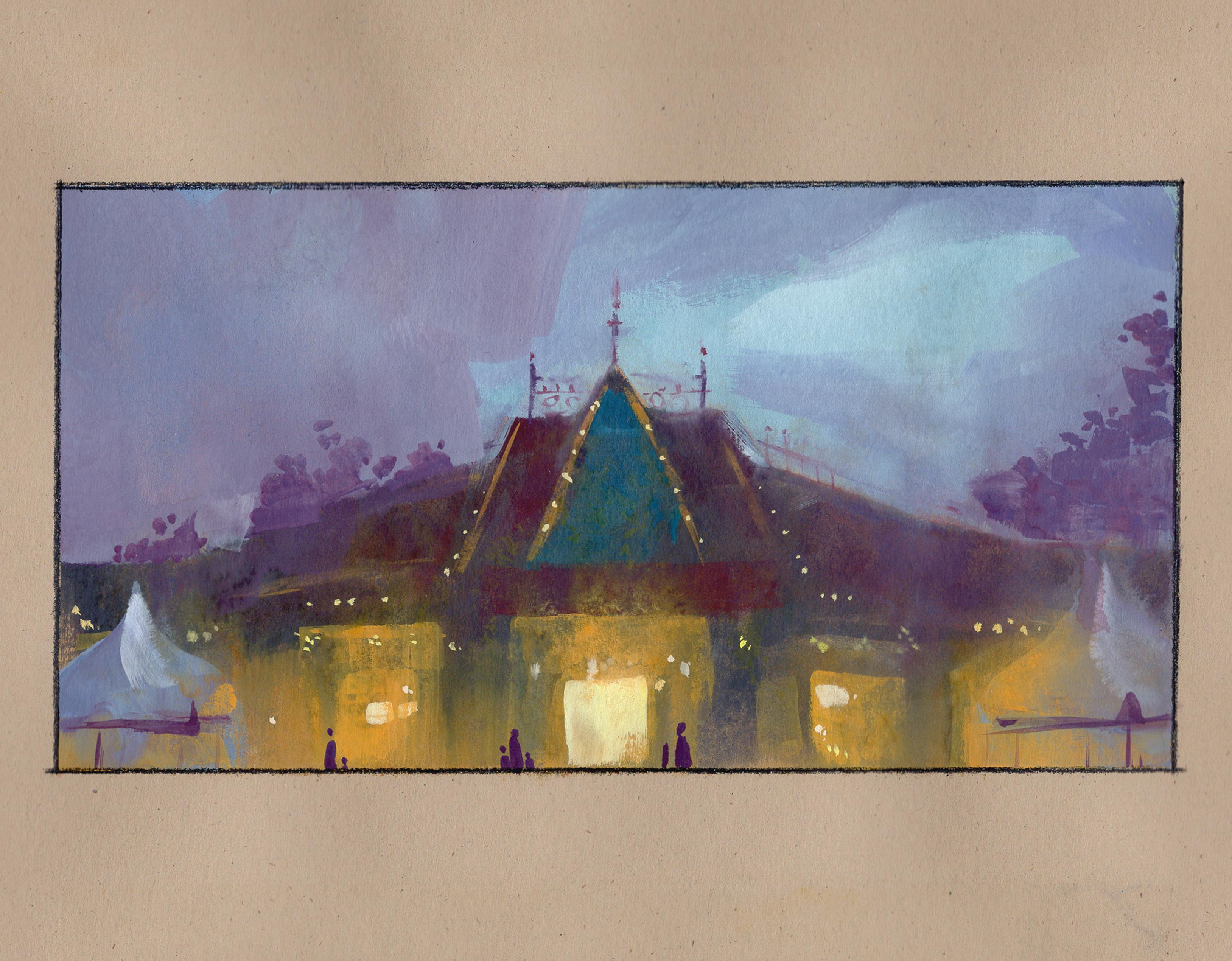 Disneyland (gouache)