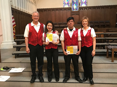Scholarship recipients 2017.Jessica & Je