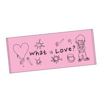 愛ってなんですか?フェイスタオル