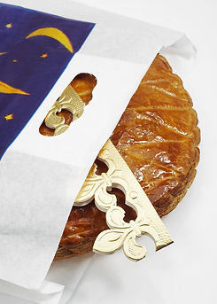Galette des Rois with Crown, French Cake