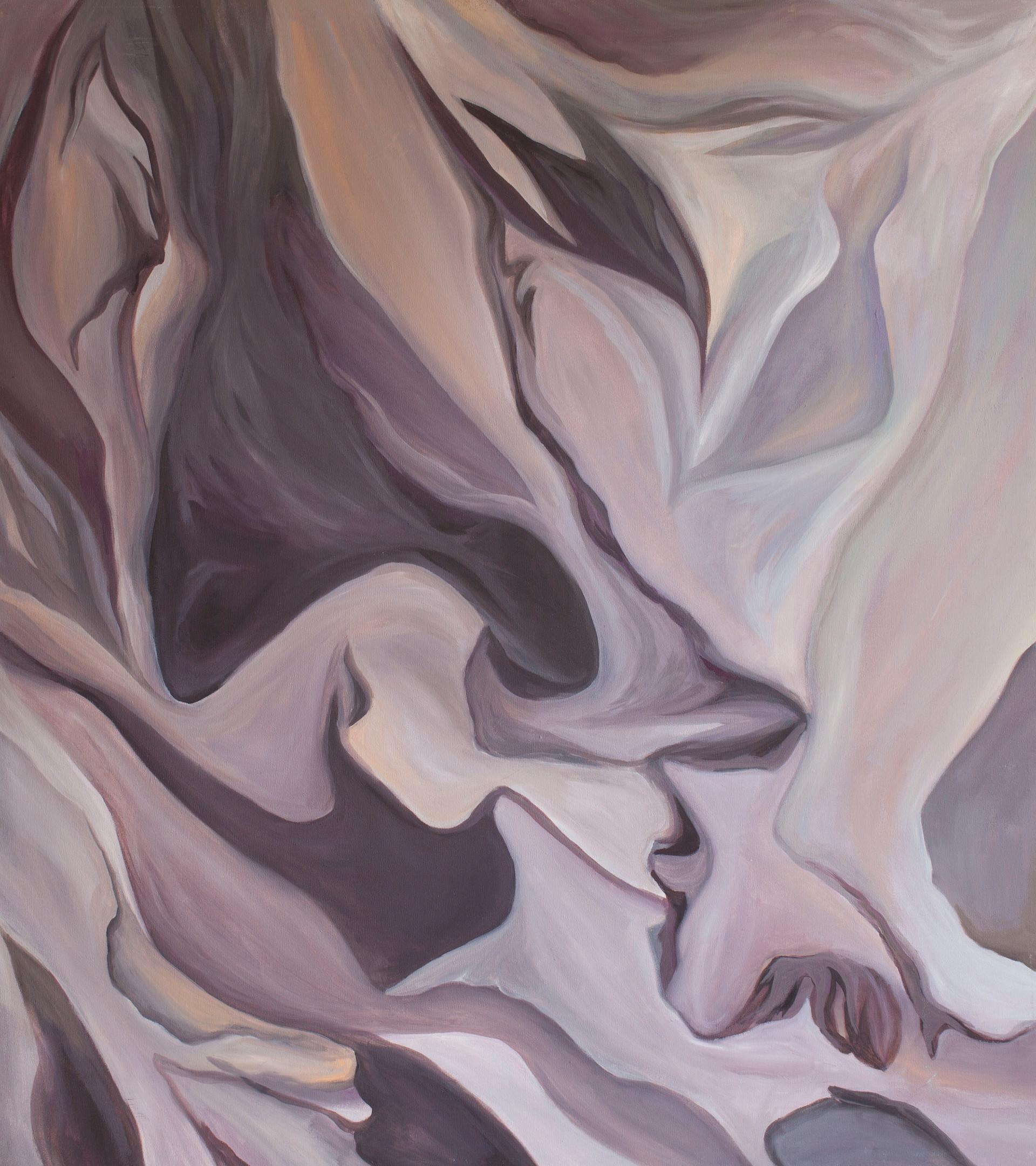 """Afrennsli in Amethyst (Runoff) Oil on Canvas   40.50"""" x 36.00""""   $400"""