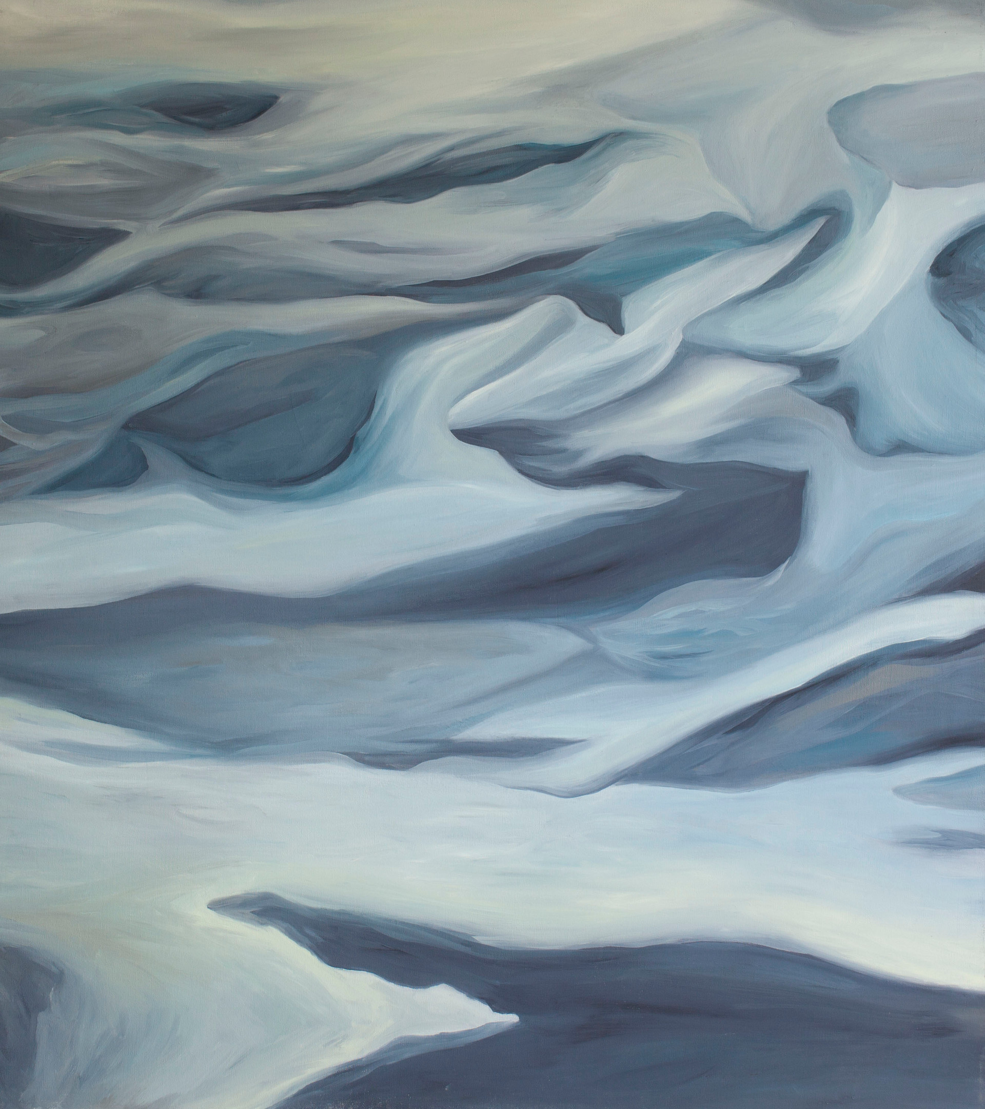 "Afrennsli in Aegean (Runoff) Oil on Canvas   40.50"" x 36.00""   SOLD"