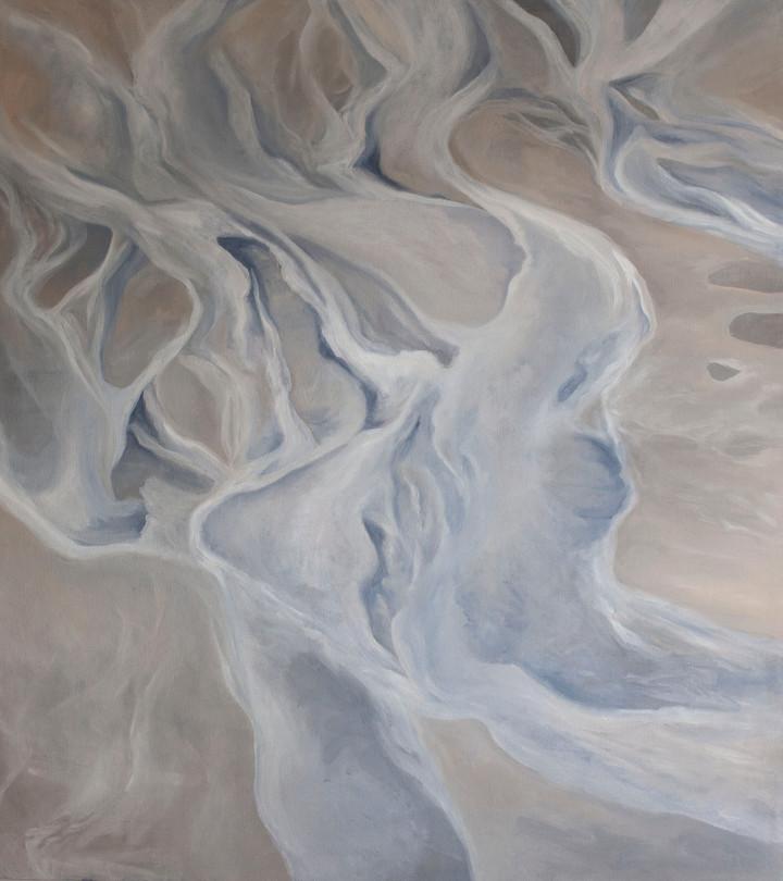 "Ösku (Ash Rivers) Oil on Canvas   40.50"" x 36.00""   SOLD"