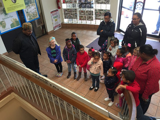 Preschoolers from Seasons Learning Center tour BIU