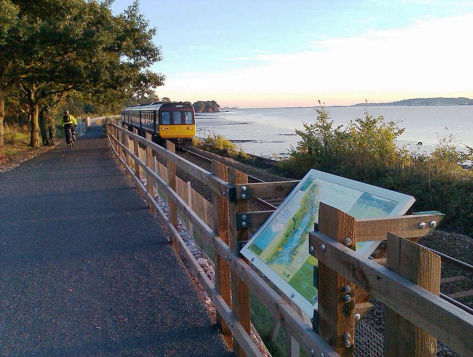 Train on Exe Estuary