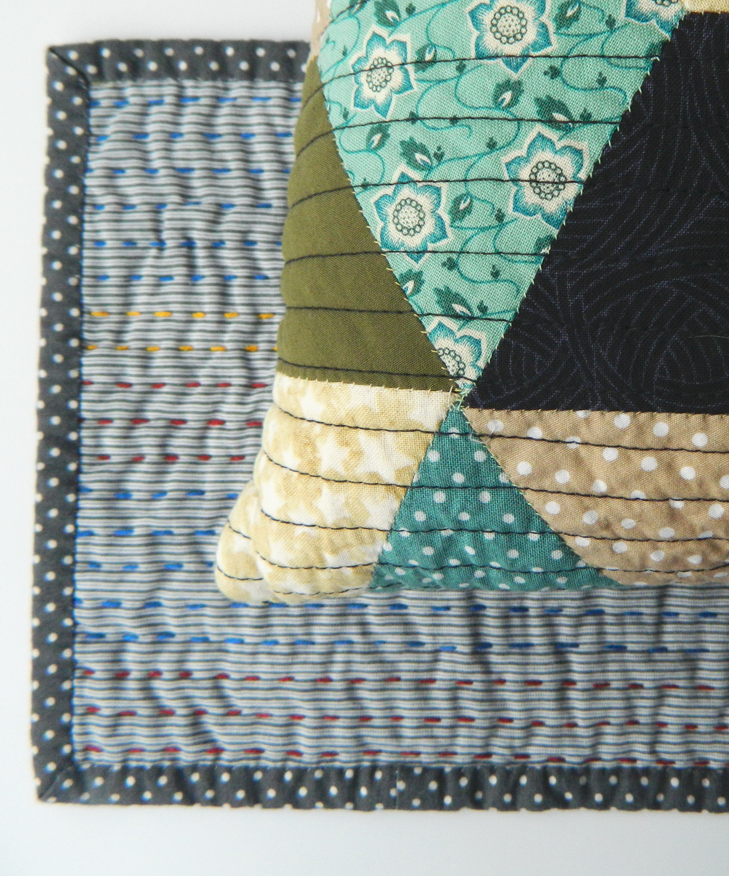 Linear Quilting by Hand and Machine