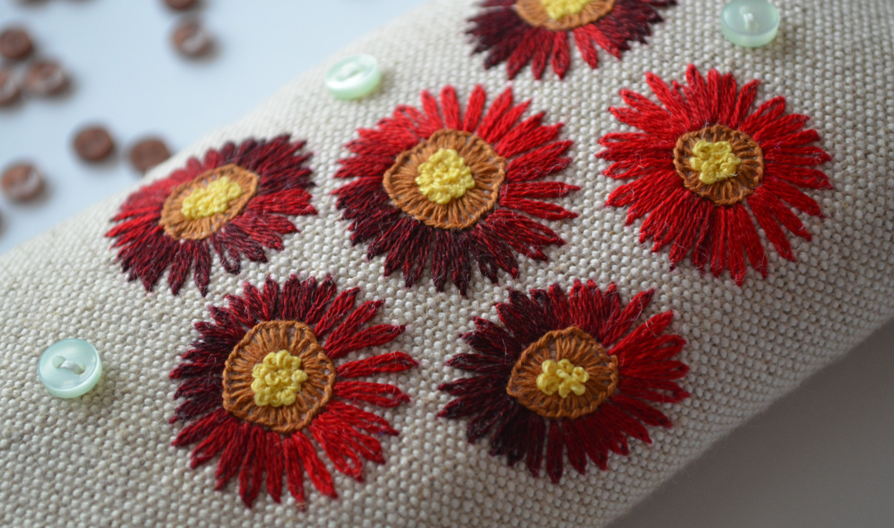 Copy of Embroidered daisies from keepsti