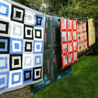 Quilts on a washing line
