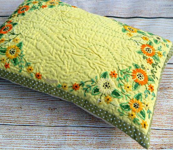 Springtime Yellow Cushion