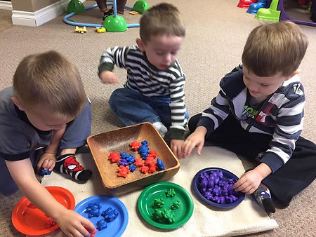 Children Working on their Color Finding