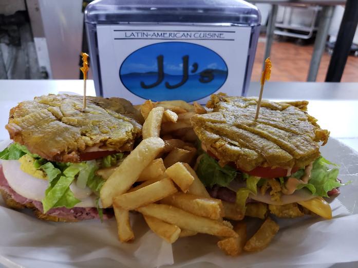 Triple sandwich on Fried Plantains.jpg