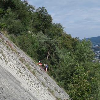 Arbeitseinsatz durch die IG Klettern Jurasüdfuss und Mitglieder der Sektion Olten im August 2021
