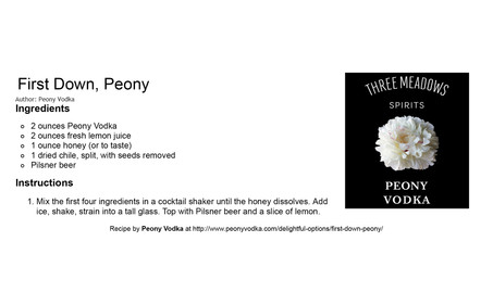 First Down, Peony