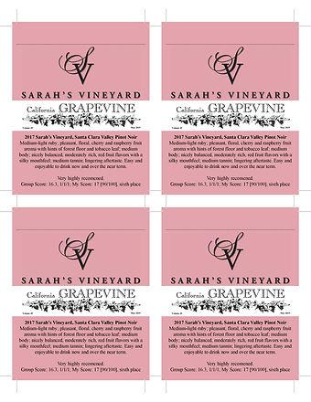 2017 SCV Pinot Noir Sarah's Vineyard-Gra