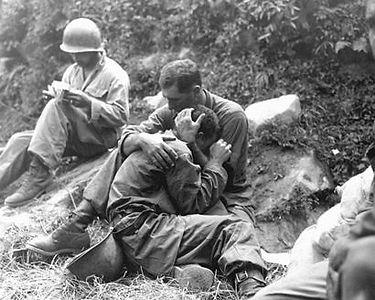 Marine conforting another Marine