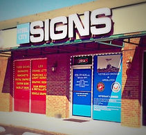 Steel City Signs store front