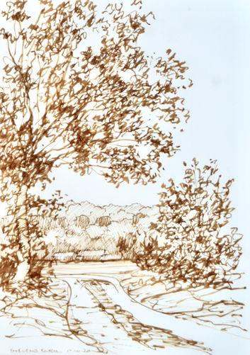 Stevens Farm. Brown Ink.