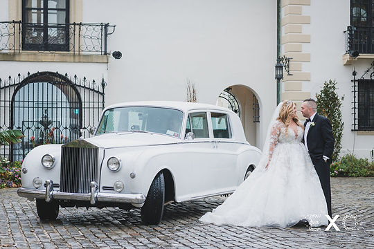 Bride & Groom with Rolls Royce