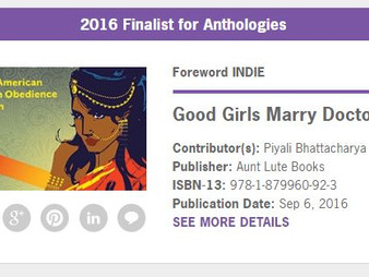 Good Girls Marry Doctors named Finalist for 2016 Foreword INDIES Book of the Year Award