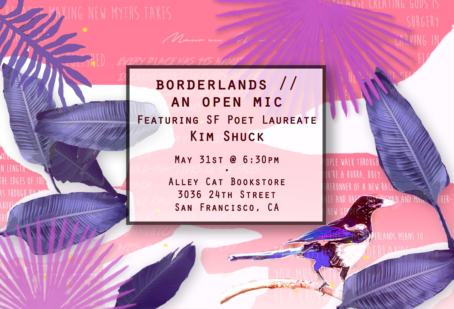 open mic kim shuck postcard FLAT