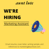 Aunt Lute is Hiring a Marketing Assistant