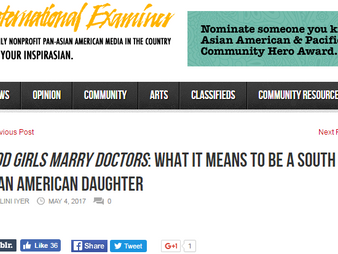 The International Examiner Covers Good Girls Marry Doctors