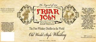 FRIAR JOHN WHISKEY