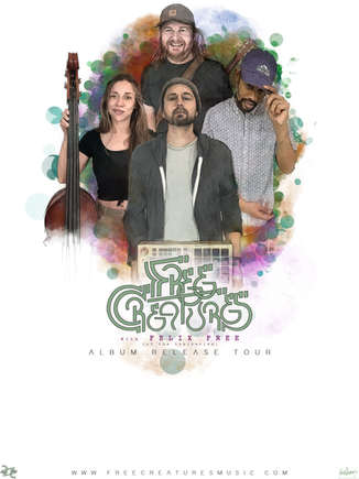 FREE CREATURES TOUR POSTER