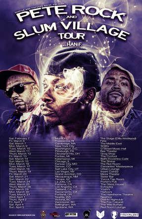Pete Rock & Slum Village tour poster