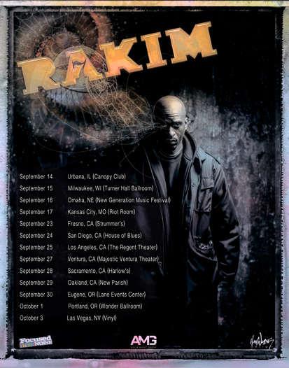 Rakim tour poster