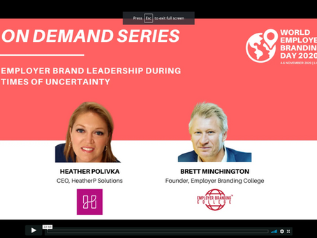 Employer Brand Leadership in a climate of uncertainty...