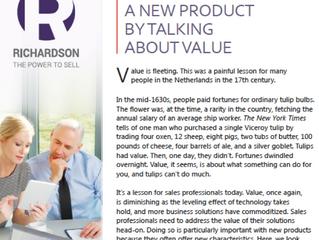 Hoe verkoop je een nieuw product door over waarde te praten?