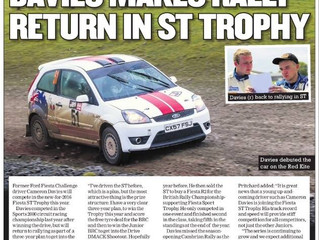 DAVIES MAKES RALLY RETURN IN ST TROPHY