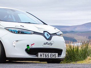 DAVIES MAKING HISTORY BY DRIVING UK'S FIRST EVER ELECTRIC RALLY CAR
