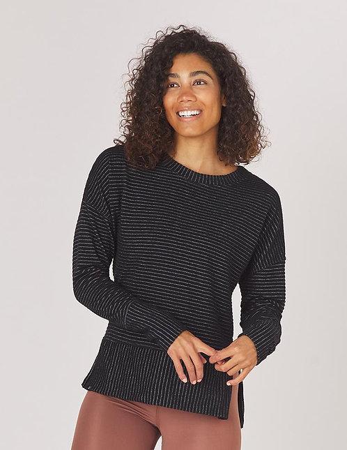 Glyder: Shaker Knit Pullover Black