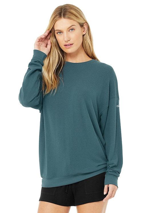 Alo Yoga: Soho Pullover- Deep Jade