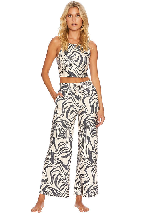 Beach Riot: Hailey Pant Psychedelic Swirl