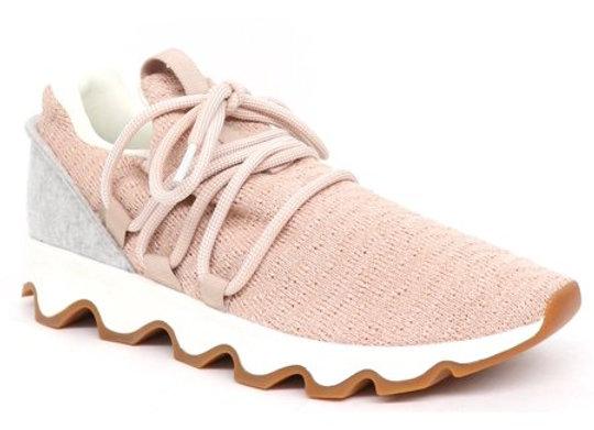 Sorel: Kinetic Lace Sneaker in pink/gray